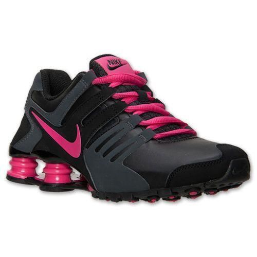 9f8cefc3fd3 Nike Shox Current Black Anthracite Pink Grey Womens Running Shoes 5.5 US