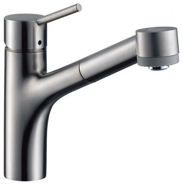 Hansgrohe-06462860 Talis S Single-Hole Pull-Out Spray Kitchen Faucet ...