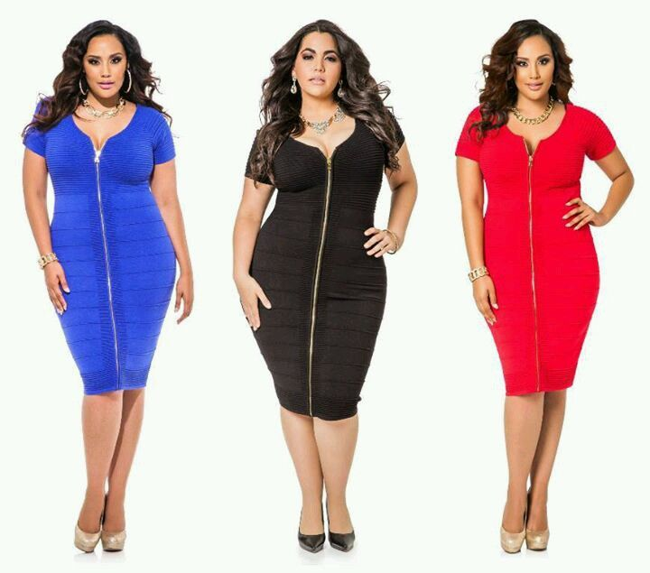 Front zipper ribbed bodycon dresses