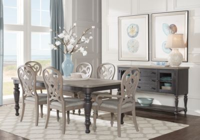 Cindy Crawford Home Coastal Breeze Charcoal 5 Pc Rectangle Dining Room 875 00 Find Affordable Sets For Your That Will Complement The