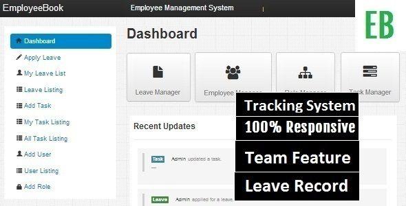 EmployeeBook Employee Management System | Template | Admin