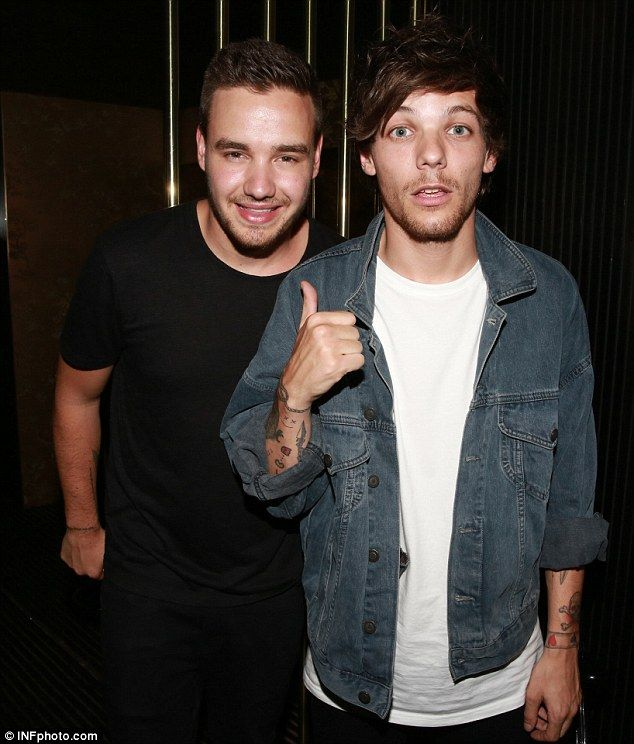 Hanging out: Louis and Liam were heading back to their rooms after hitting up the popular ...