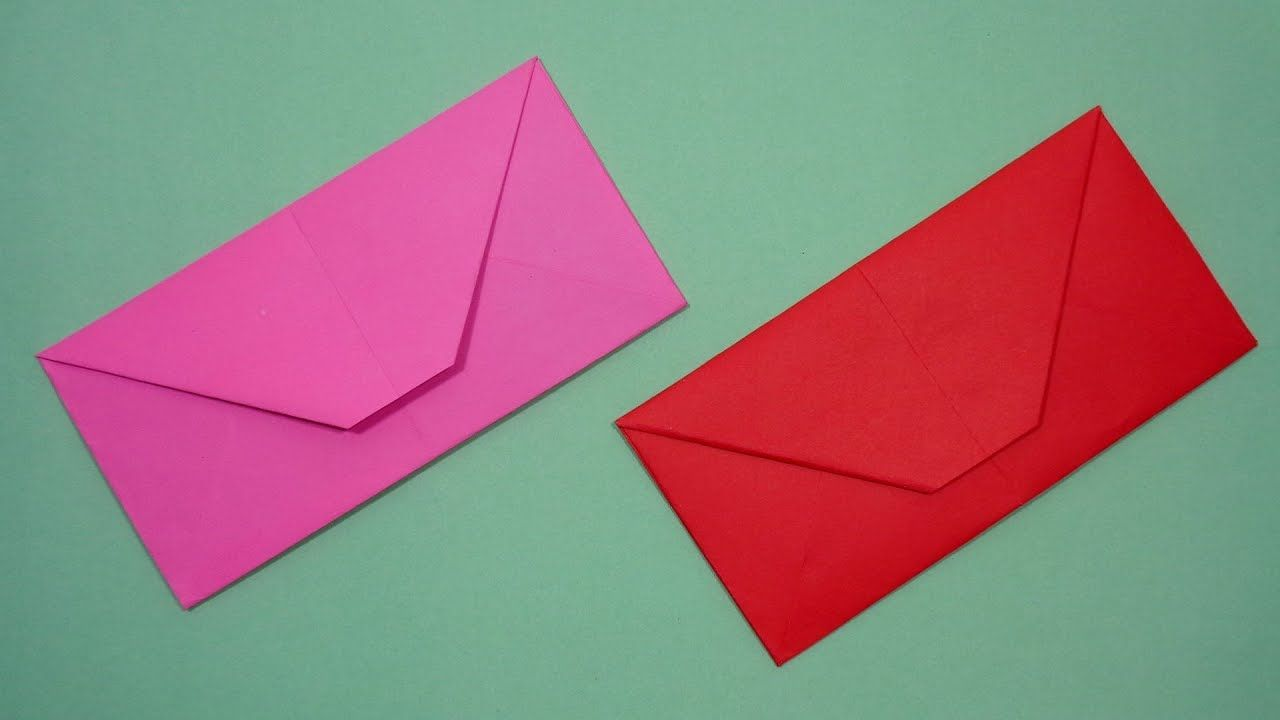 How To Make An Envelope Out Of Paper Without Glue Or Tape Diy