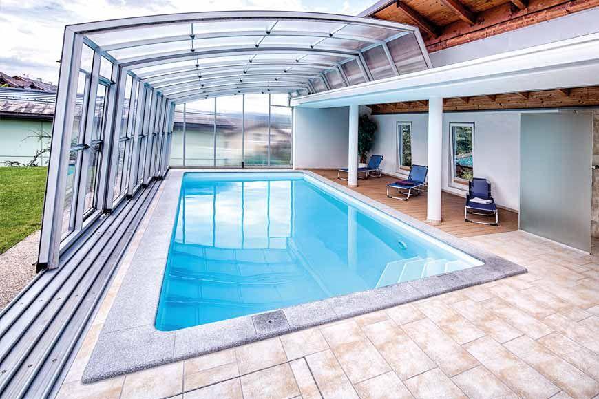 Gartenpool Unter Überdachung Aus Glas Feuerschalen Im Poolbereich | Pool Im  Garten | Pinterest | Indoor Pools And House