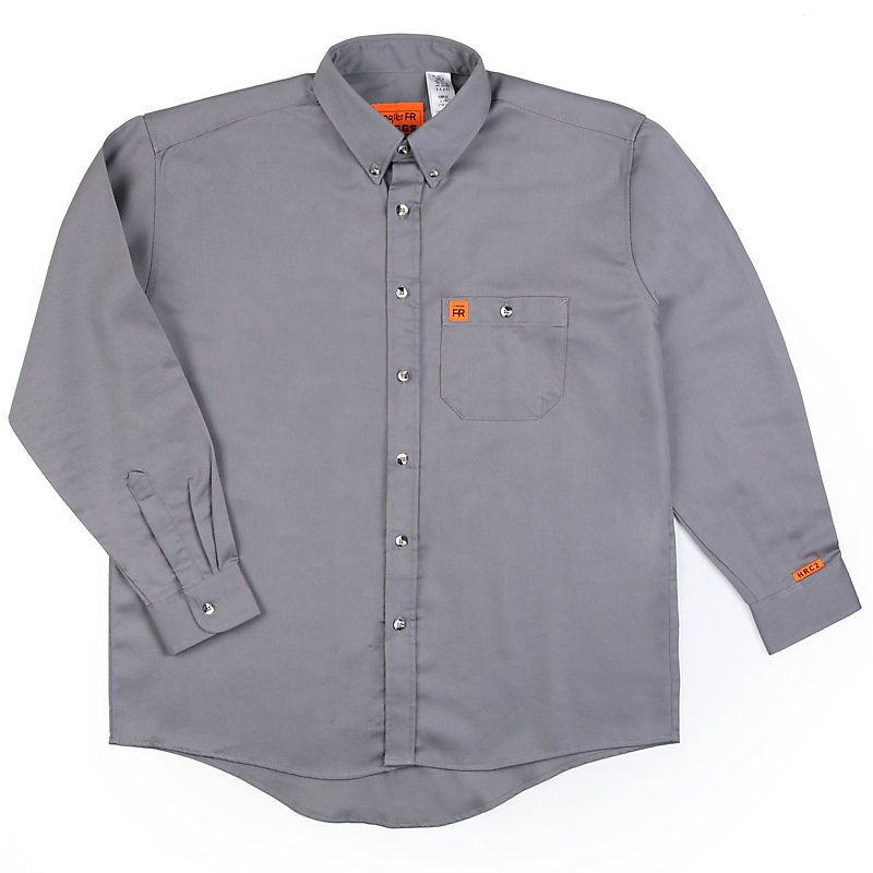 79f592c3 Wrangler Men's RIGGS Workwear FR Flame Resistant Resistant Solid Shirt  (Size:
