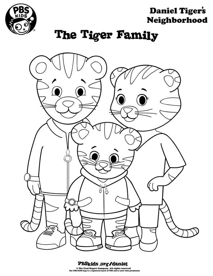 Daniel Tiger S Family To Color Daniel Tiger S Neighborhood