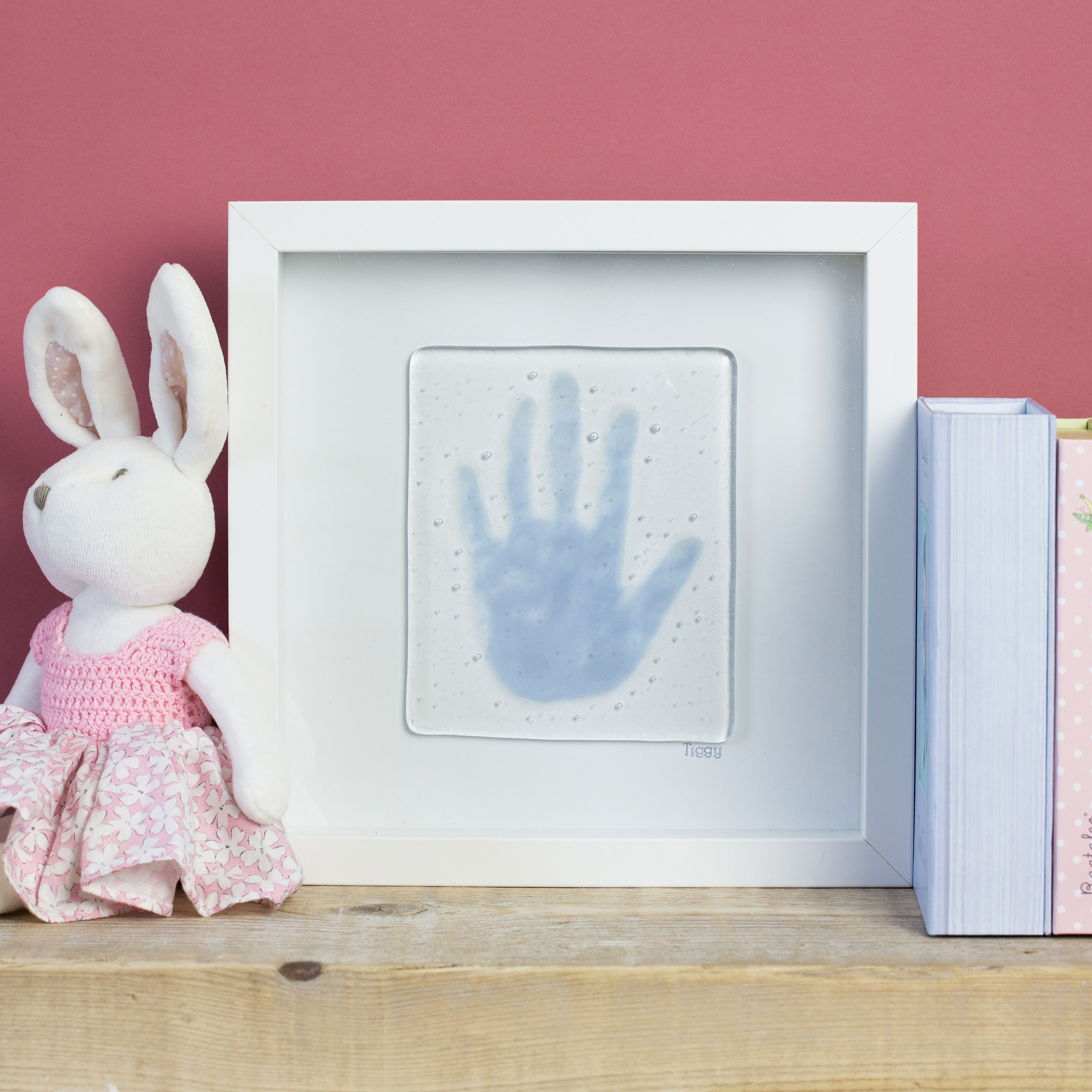 Personalised fused glass handprints.....
