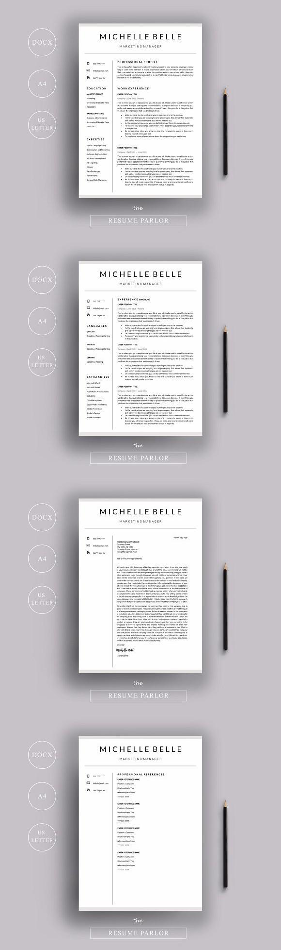 Resume 4 Page A4 + US Letter Sizes. Nursing Resume. 15