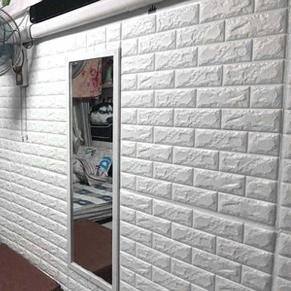 Modern wall background decor d brick pattern wallpaper bedroom