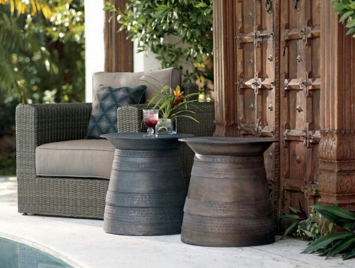 Flower Pot Tables Garden Side Table Outdoor Deco Outdoor Side