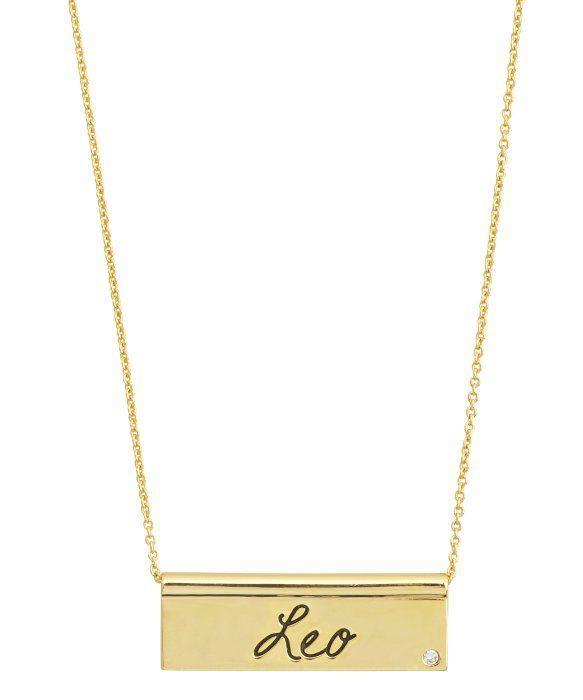 Rebecca Minkoff : gold 'Leo' zodiac necklace : style # 334826203