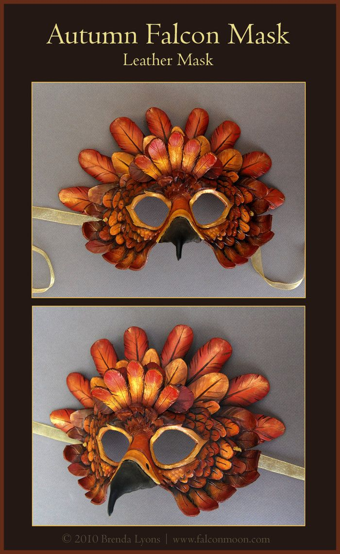 Autumn Falcon Leather Mask by windfalcon on DeviantArt