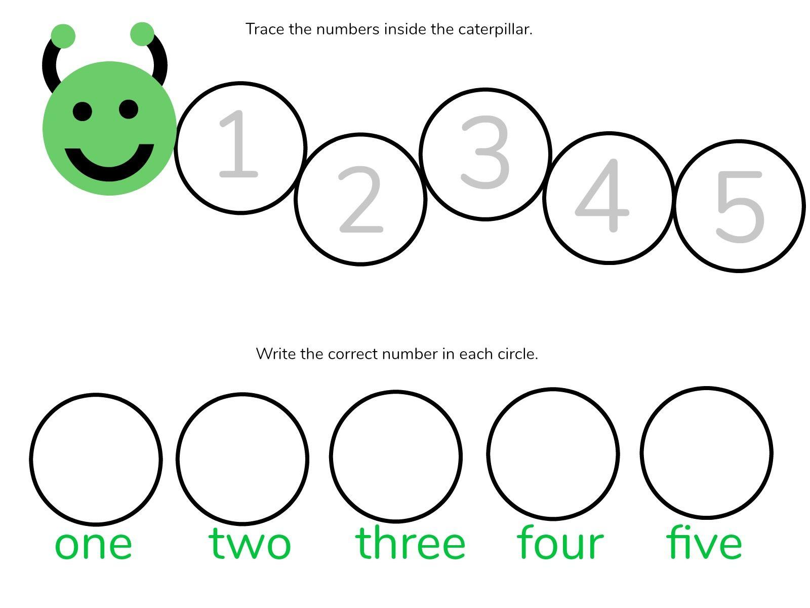 Caterpillar Math Free Printable Preschool Worksheets Numbers 1 5 Preschool Worksheets Preschool Number Worksheets Free Math [ 1200 x 1600 Pixel ]