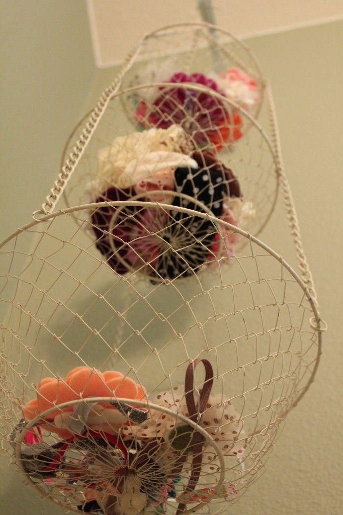 Vintage Country Girl\'s Nursery | Hanging fruit baskets, Hair ...