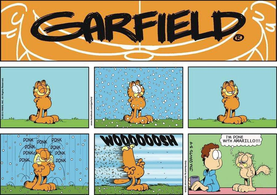 example of Texas Panhandle weather Garfield comics
