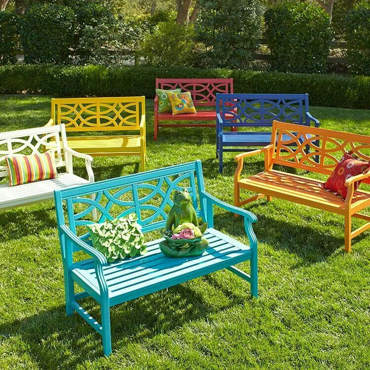 Pretty Benches For The House Pier 1 Colorful Patio Outdoor