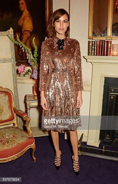 Fotografia de notícias : Alexa Chung attends the Gucci party at 106...