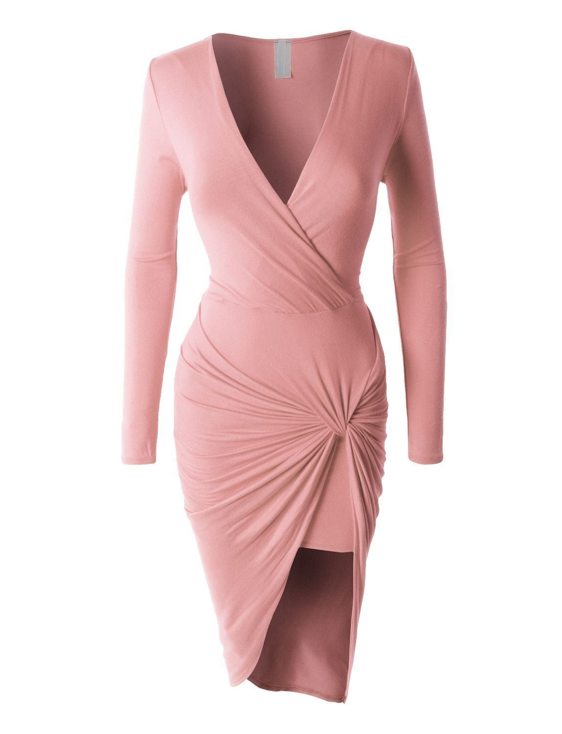 Side Draped Bodycon Dress Clearance Draped Bodycon Dress Fashion Long Sleeve Fitted Dress [ 1500 x 1150 Pixel ]