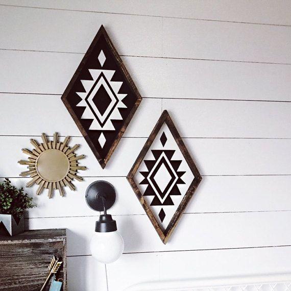 Aztec Diamond Wood Sign in 2020 Schwarz weiß, Möbel
