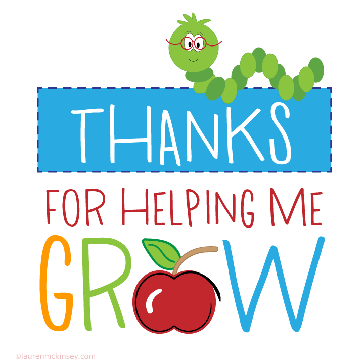 photo regarding Thanks for Helping Me Grow Free Printable identified as because of-for-serving to-me-develop-trainer-appreciation-printable