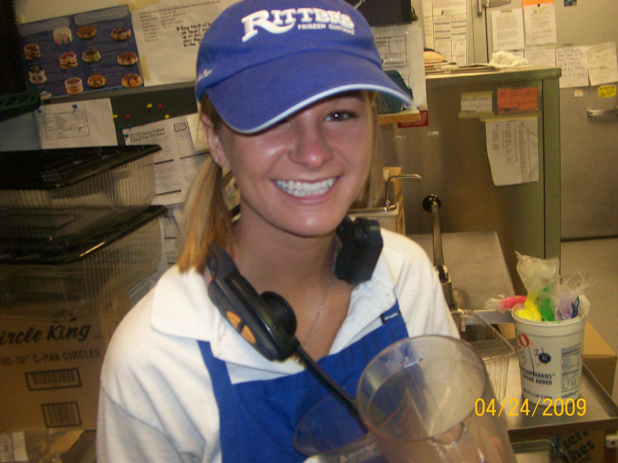 Who wouldn't be happy making Frozen Custard?