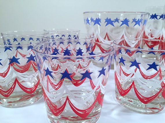 Federal Glass  Spirit of '76 13-Piece Retro Bar by RetroSolstice