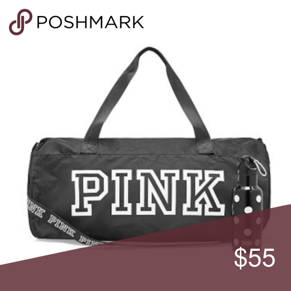 0f17411fcd7b VS PINK FRIDAY 2018 BLACK DUFFEL BAG ONLY Victoria s Secret PINK Friday  2018 Black Duffel Bag ONLY WATER BOTTLE NOT INCLUDED!! Super big duffel bag  with ...