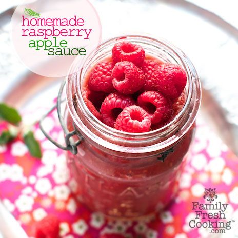 Homemade Raspberry Applesauce Recipe   FamilyFreshCooking.com   © MarlaMeridith.com from @Marla Meridith