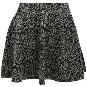 Pilot Amie Printed Jacquard Flared Skirt
