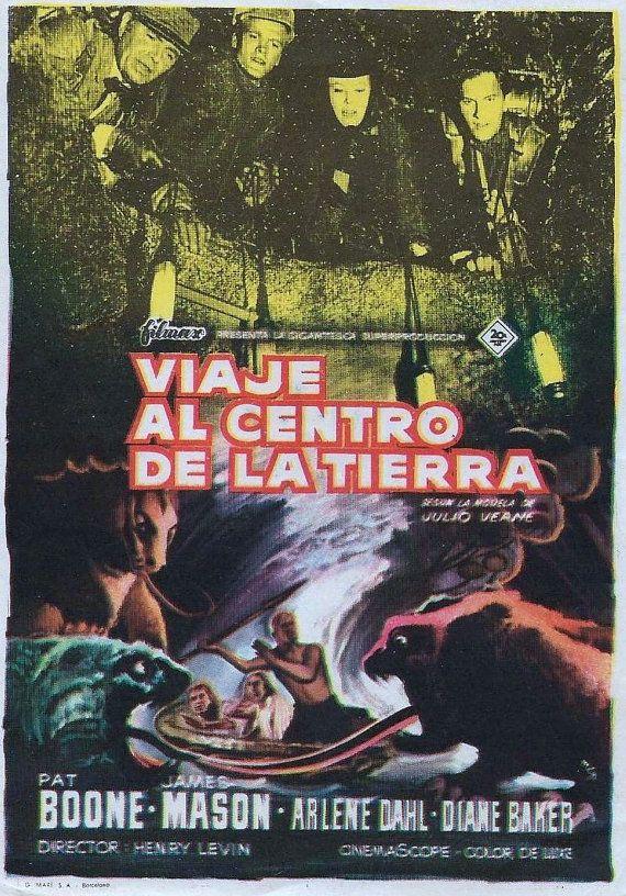 Poster De La Película Viaje Al Centro De La Tierra Viaje Al Centro De La Tierra Afiche De Pelicula Centro De La Tierra