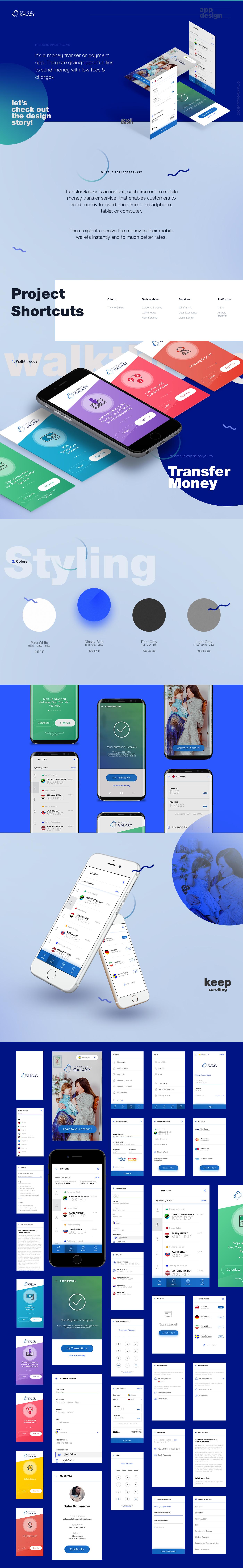 TransferGalaxy Money Transfer App | App Design (Android) | Mobile
