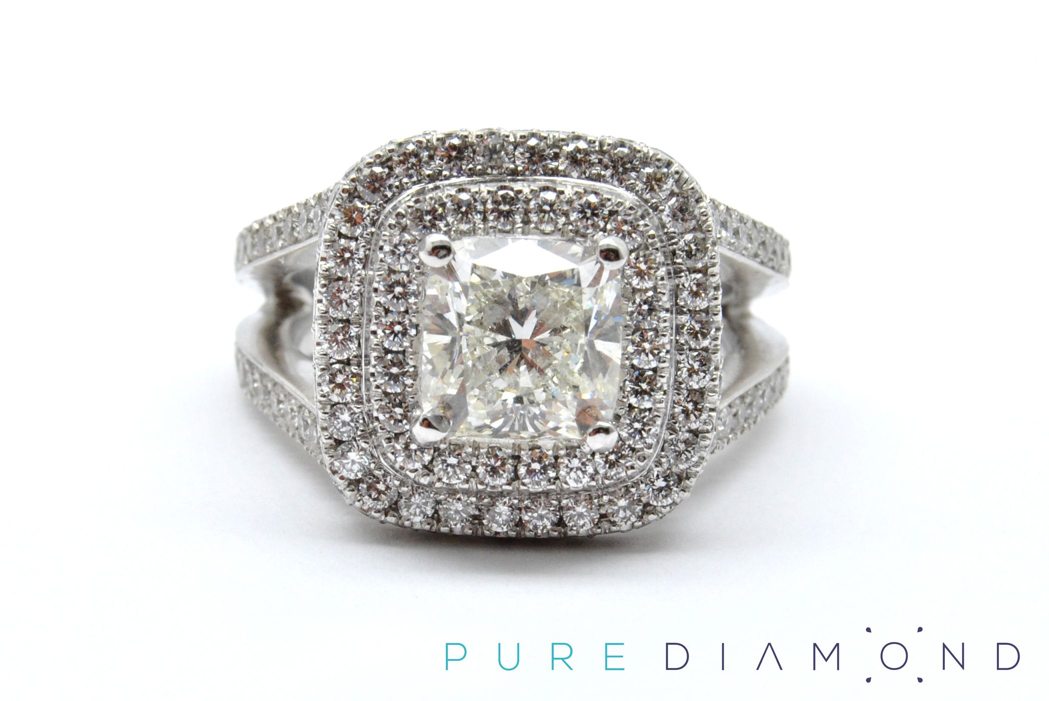 diamond round gold ring Engagement Vancouver