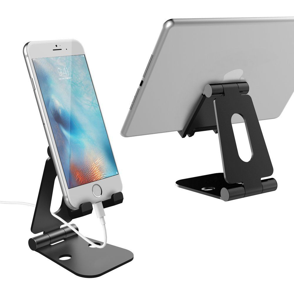 Portable Phone Stand Universal Adjustable Foldable Aluminum Cellphone Tablet Phone Holder For Desk Office Kitchen Home Portable Phone Phone Stand Tablet Phone