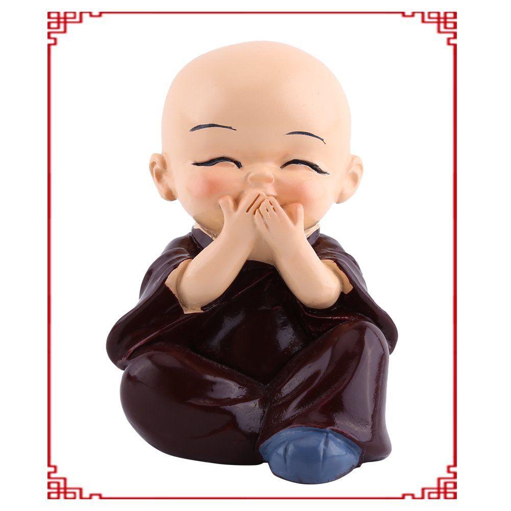 4PCs Statue Bouddha - Delaman Mini Moine Bouddha Figurine en ...