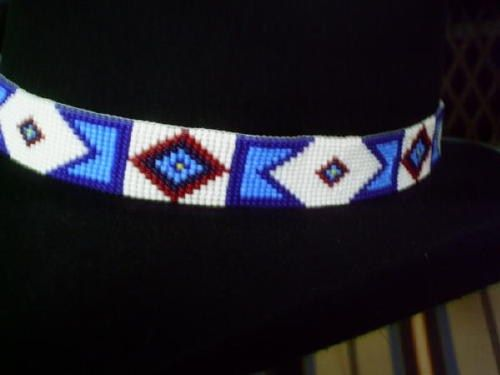 Billy Jack Hat Band Replica Of Original Billy Jack Beaded Hatband Beaded Hat Bands Beaded Hatband Beaded Hat Bands Native Americans