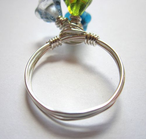 Flower Bouquet Wire Wrapped Ring Tutorial | Cute crafts | Pinterest ...