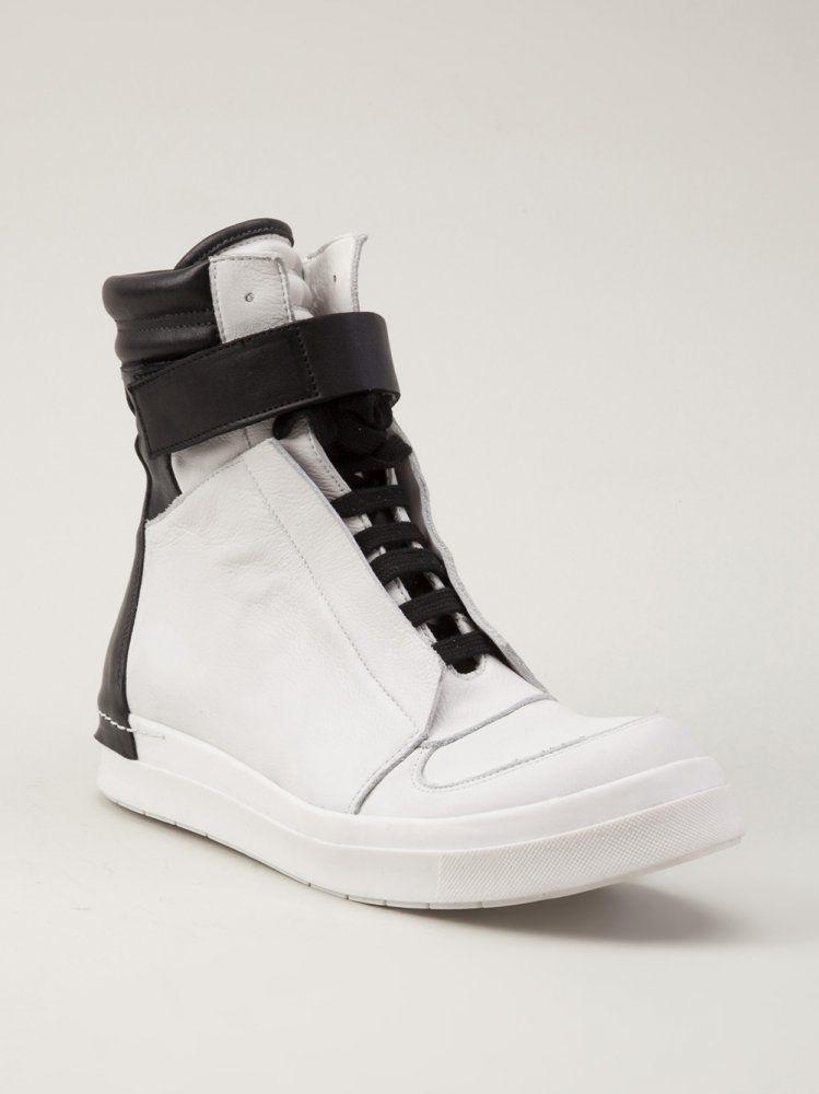 CINZIA ARAIA Leather Zip Strap Sneaker http://shop.hlorenzo.com/products/mens/footwear/sneakers/ca202_01_blk_wht
