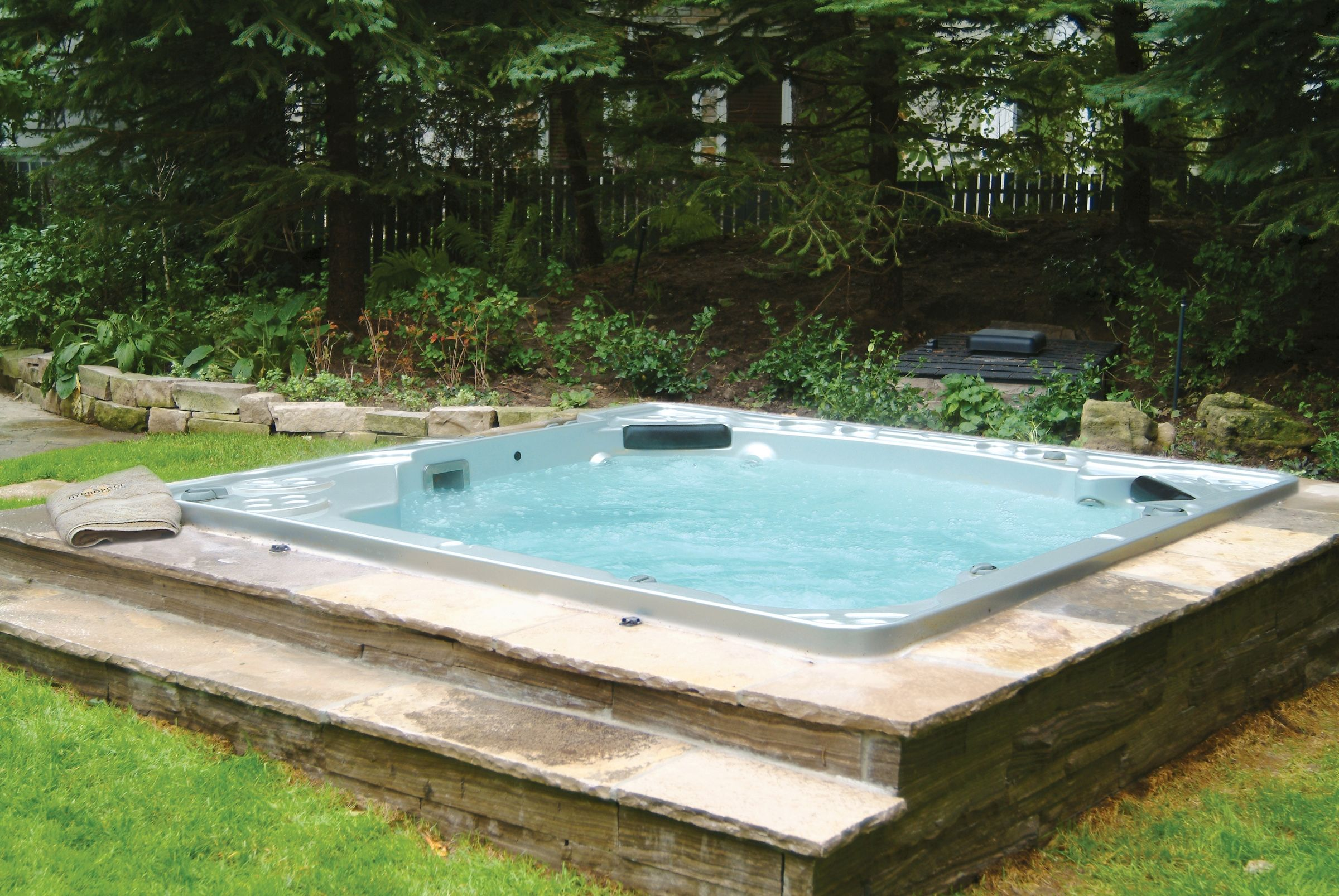and modern hardwood tub iroko pergola pin surround hot sided spa lazy with tubs soft insulated
