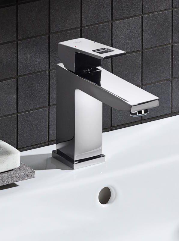 Grohe Eurocube Einhand Waschtischbatterie M Size Mit Ablaufgarnitur 23445000 Ablaufgarnitur Badezimmer Wasserhahn Wasserhahn Bad