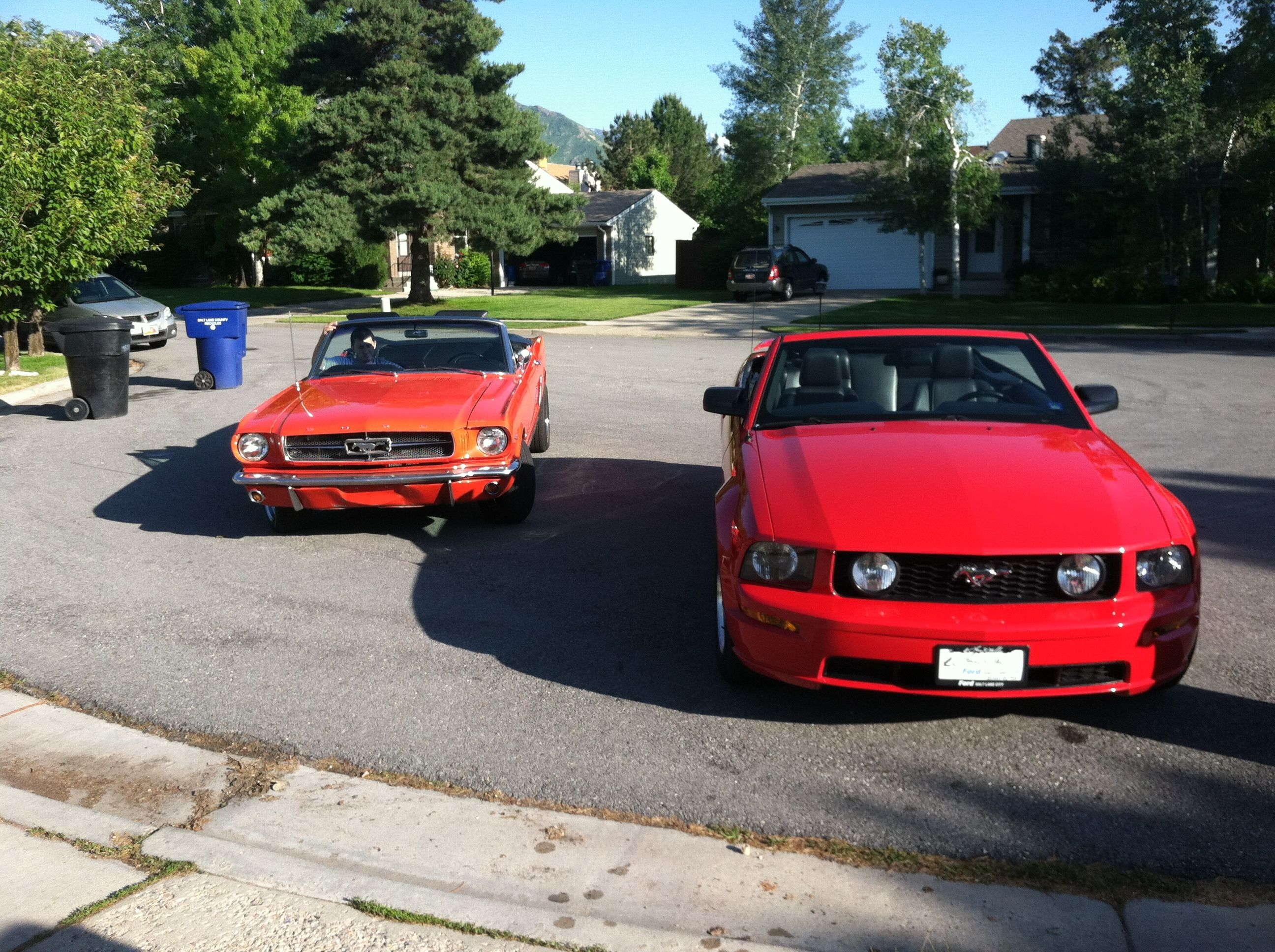 2006 Mustang GT and a 65 Mustang