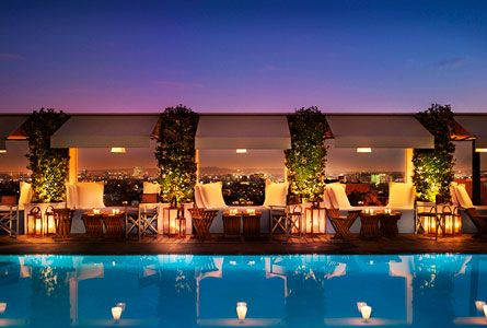 The Mondrian Rooftop Pool Los Angeles Hotels Best Rooftop Bars Mondrian Hotels