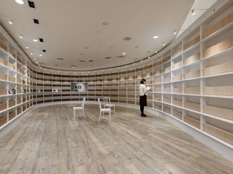 Starbucks & Nendo library cafe in Tokyo