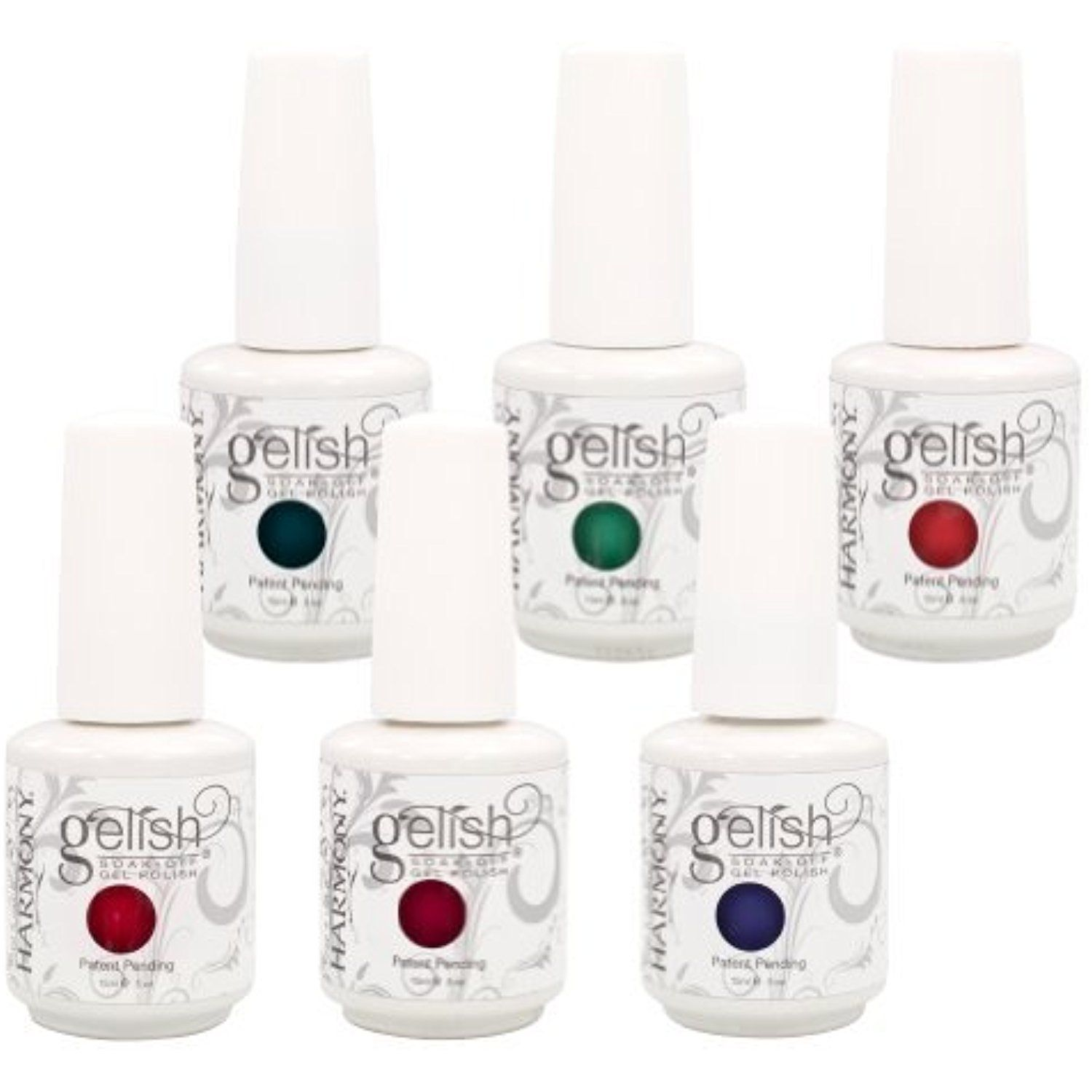 Set of 6 Harmony Gelish LOVE IN BLOOM Collection Soak Off Gel Nail ...