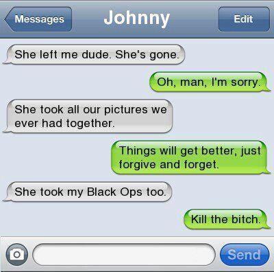 She took my black ops 2!