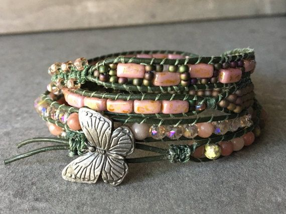 Hey, I found this really awesome Etsy listing at https://www.etsy.com/listing/288163565/english-garden-leather-wrap-bracelet