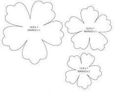 Patrones De Flores De Papel Para Imprimir Buscar Con Google