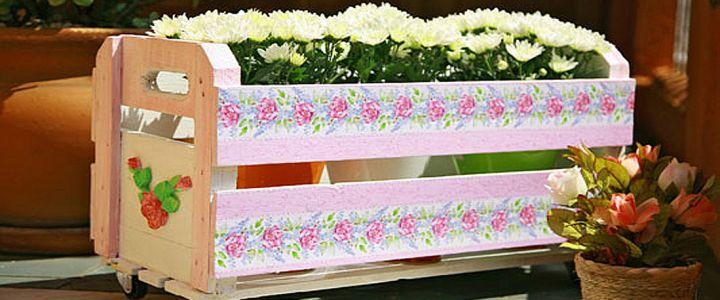 Personalize um caixote de feira
