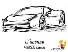 Ferrari 458 Colouring Pages