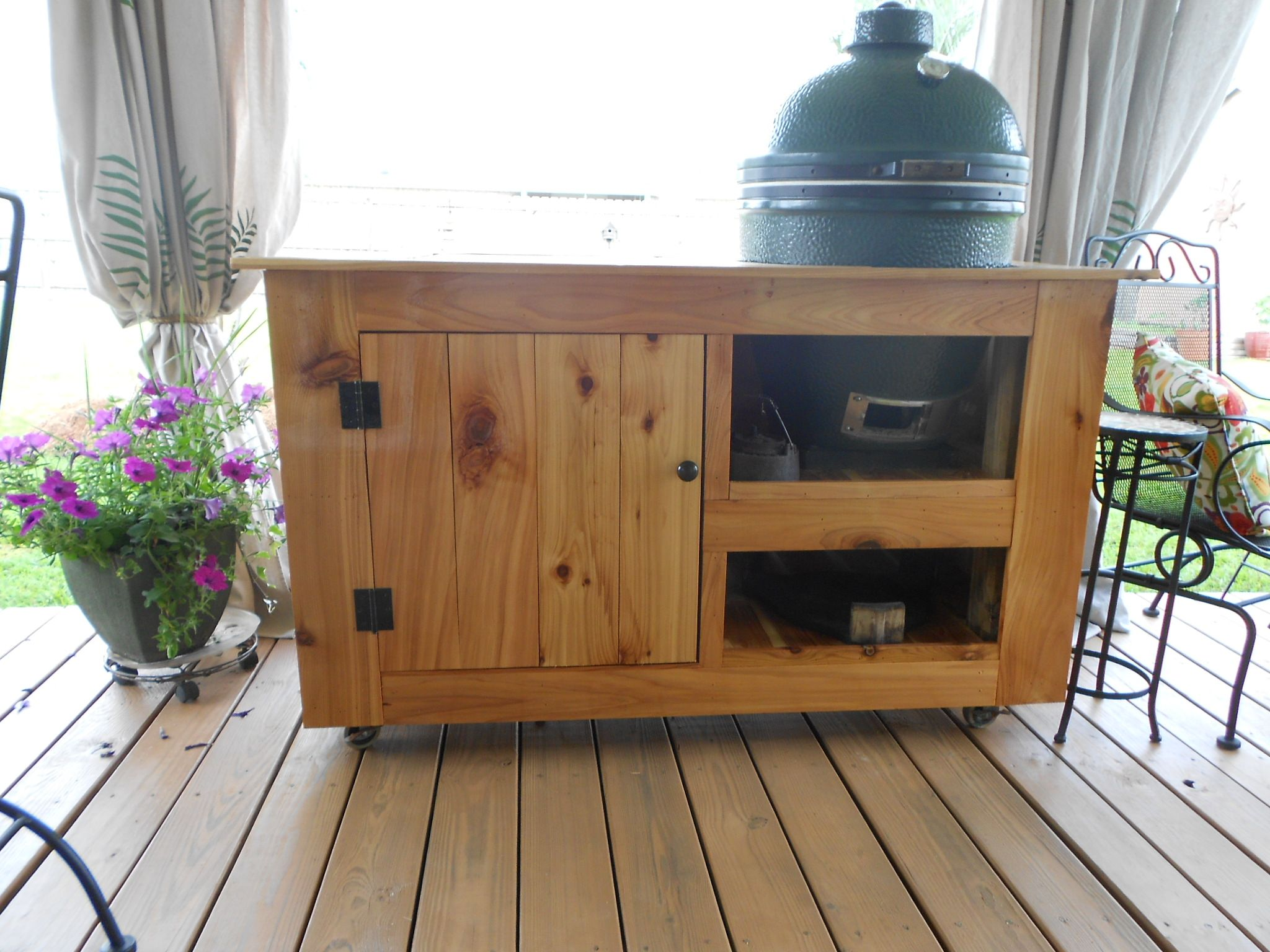 Image detail for  Big Green Egg Table   by Todd Adair   LumberJocks com    woodworking     Outside   Pinterest   Big green egg table  Green eggs and. Image detail for  Big Green Egg Table   by Todd Adair