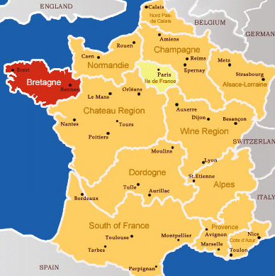 Brittany France Map Map of French regions | Echo in the Wind by Regan Walker in 2019